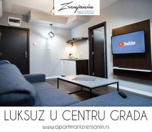 Baner - apartmani Zrenjanin - soba sa televizorom