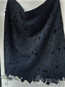 Crna cipkana suknja vel.50