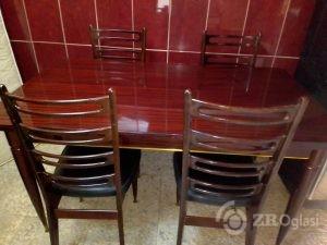 Trpezarijski sto 150×87 i stolice