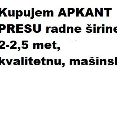 Kupujem APKANT PRESU-734df29d